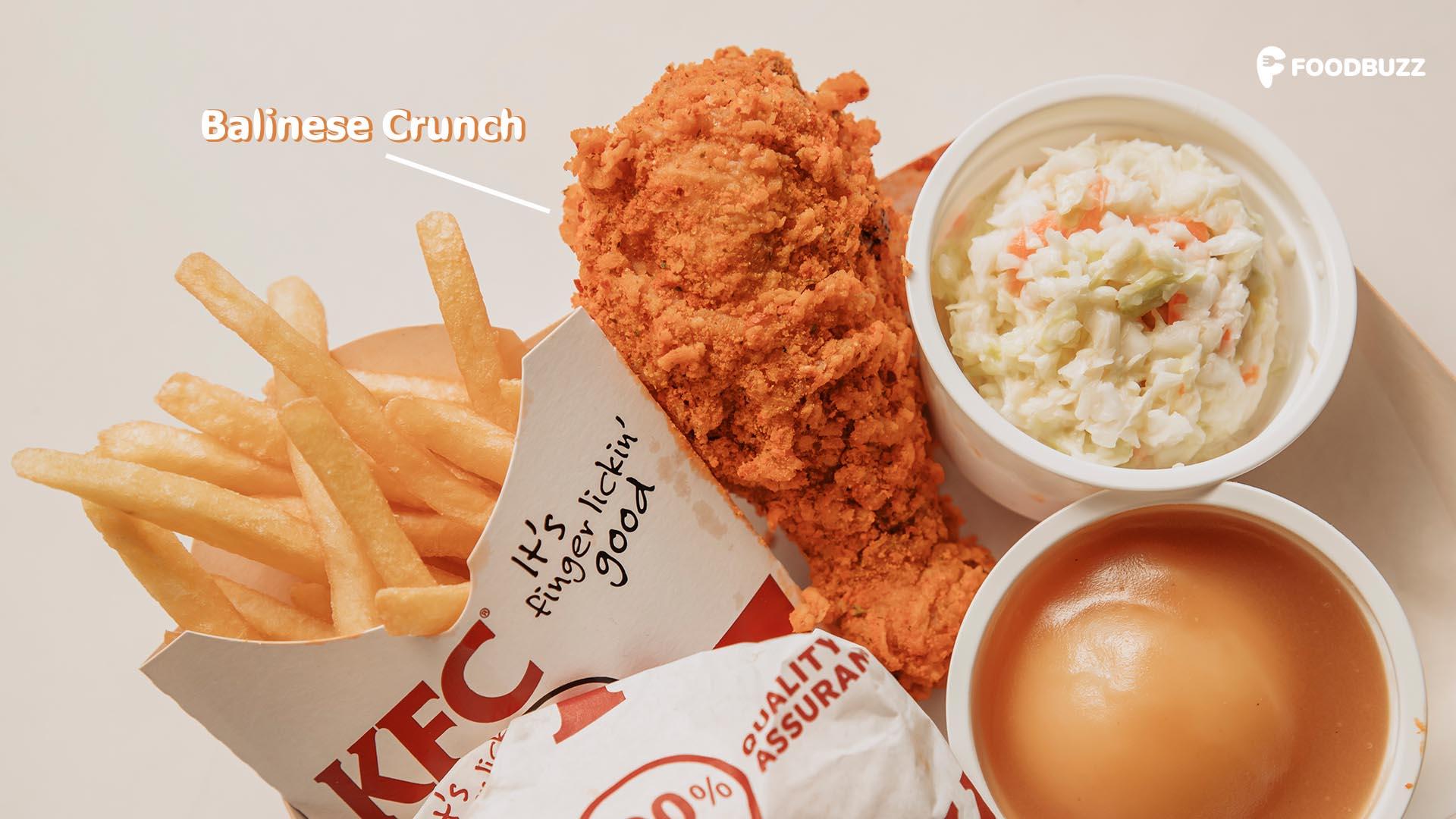 ថ្មី! KFC Balinese Crunch ស្រួយឆ្ងាញ់ ជូរតិចហឹរតិច! ដូចកំពុងញ៉ាំនៅកោះបាលីអ៊ីចឹង!