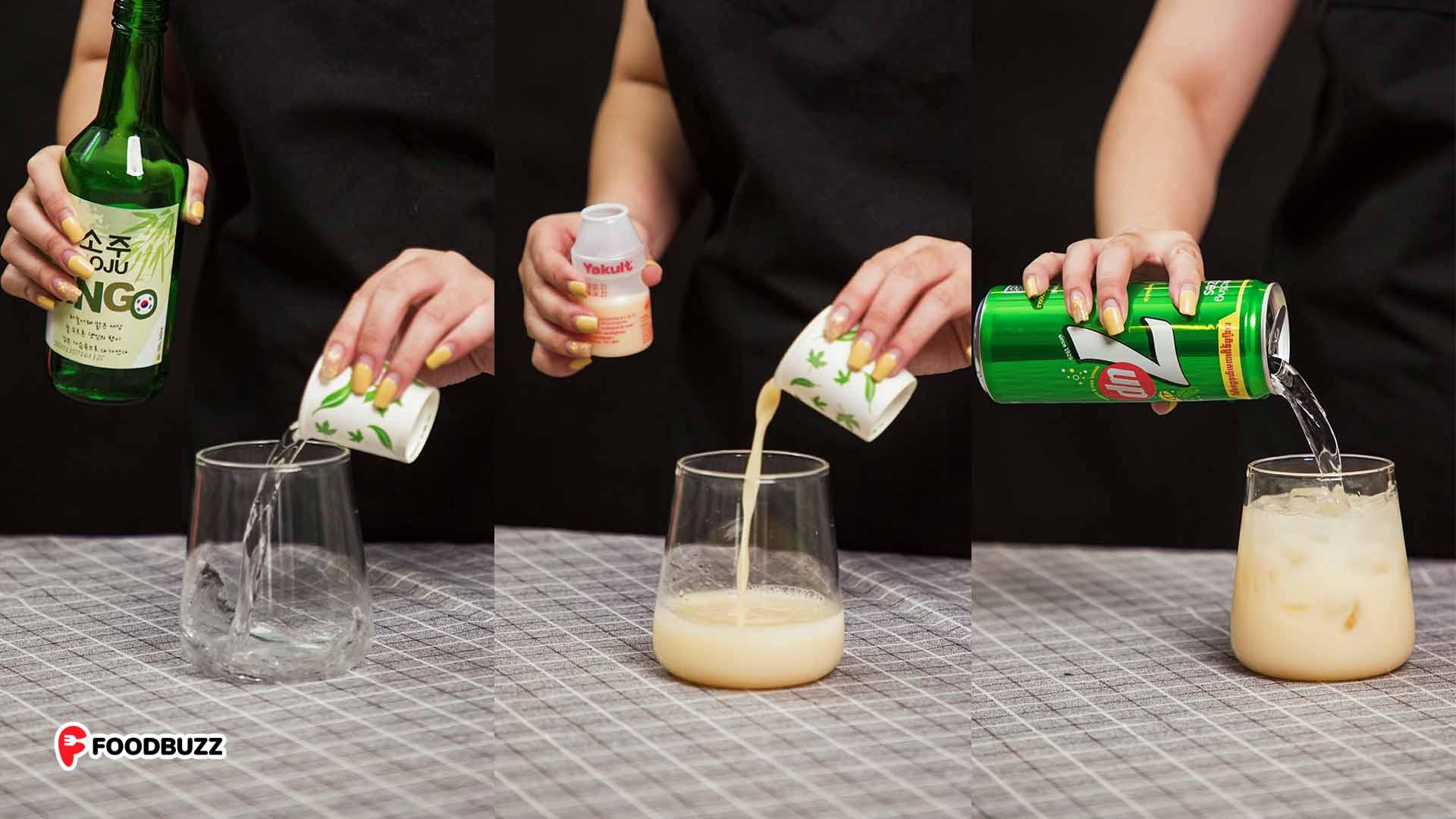 របៀបធ្វើ 7UP Soju Cocktails ពីរប្រភេទនេះ ធានាថាជួយកាត់ស្រ្តេស ថ្ងៃចុងសប្តាហ៍