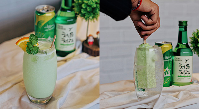 How to Make Soju Mixed with Melona Soju Cocktail