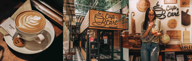 Cup & Cart Coffee ទីសំចតញ៉ាំកាហ្វេលាក់ខ្លួន ពួននៅម្តុំបឹងកេងកង