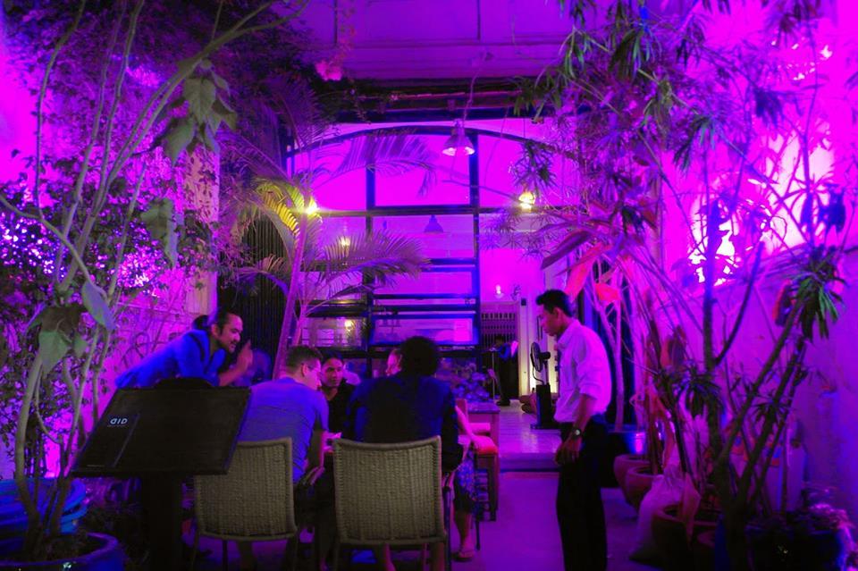 Indoor view of Dine in the Dark Restaurant