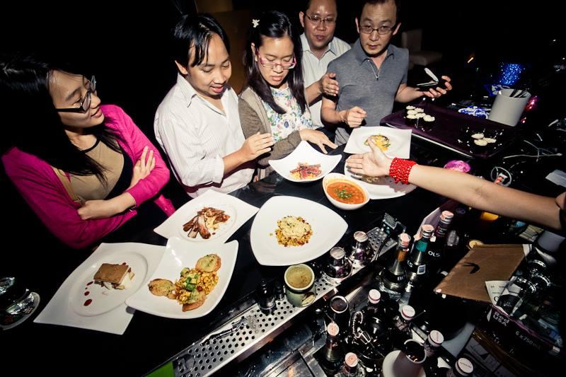 Customers enjoy choosing their food