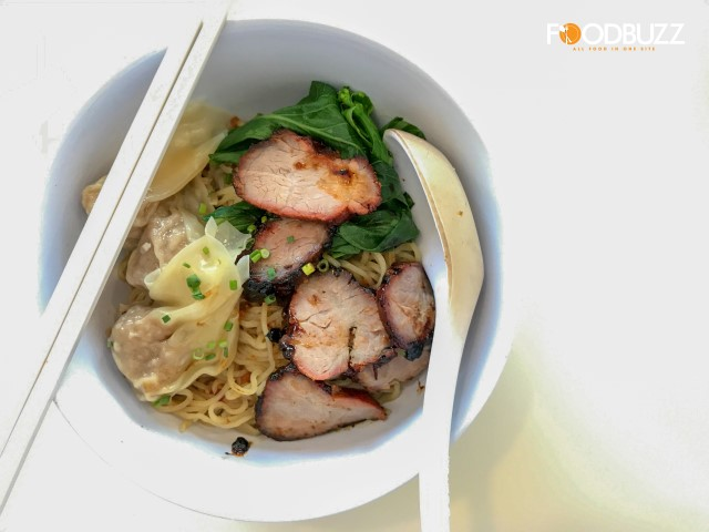Another must-try beside their Chicken Rice, Dumpling Noodle with Char Siu Pork