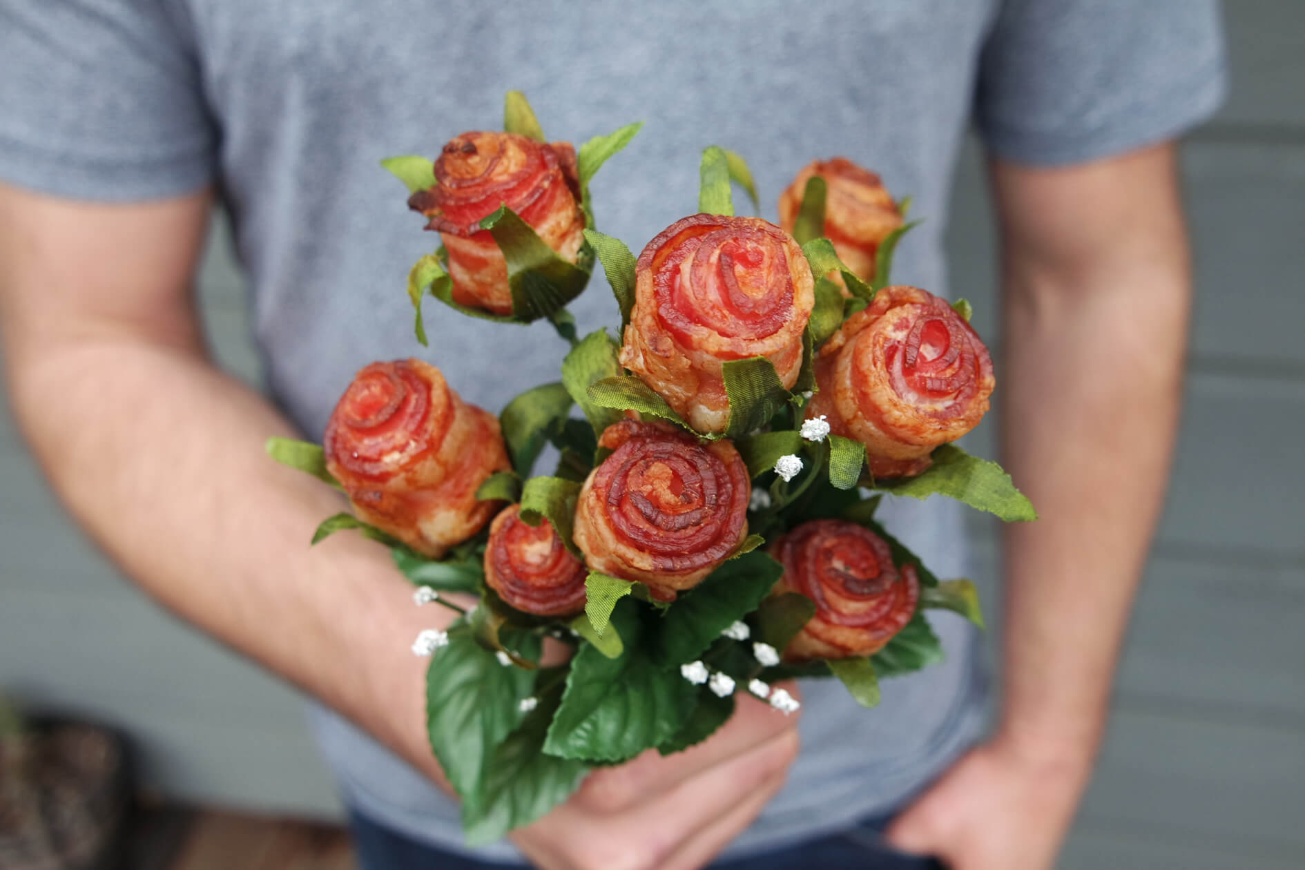 Creative non flower bouquets that you can get for your so this bacon bouquet izmirmasajfo Images