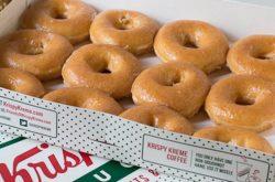Krispy Kreme ចែកនំដូហ្វណាត់ហ្វ្រី 100 ប្រអប់នៅសាខាថ្មីផ្លូវម៉ៅសេទុង