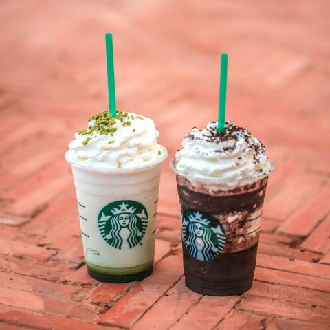 Tea-Ramisu Frappucino & Midnight Mocha Frappuccino