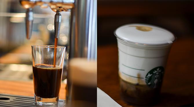 សាករសជាតិថ្មីរបស់ Nitro Cold Brew និង ហ្វូមពិសេសរបស់ Starbucks