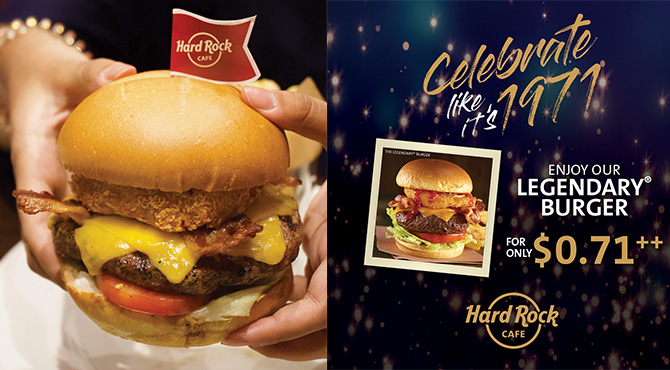 បឺហ្គឺរមួយតែ 2900 រៀលតែប៉ុណ្ណោះនៅ Hard Rock Cafe នាថ្ងៃទី 14 នេះ