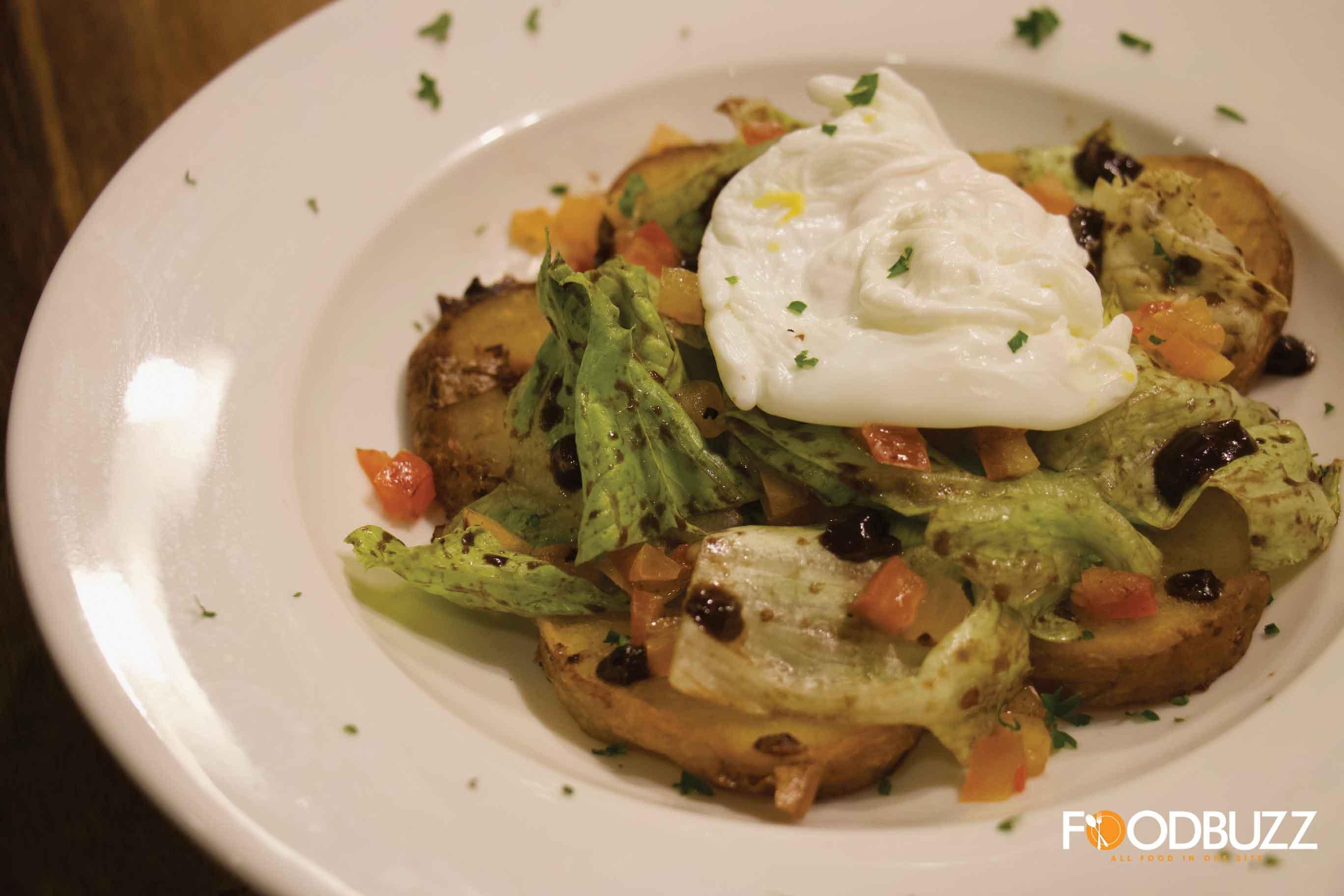 Poached Egg Potato Salad
