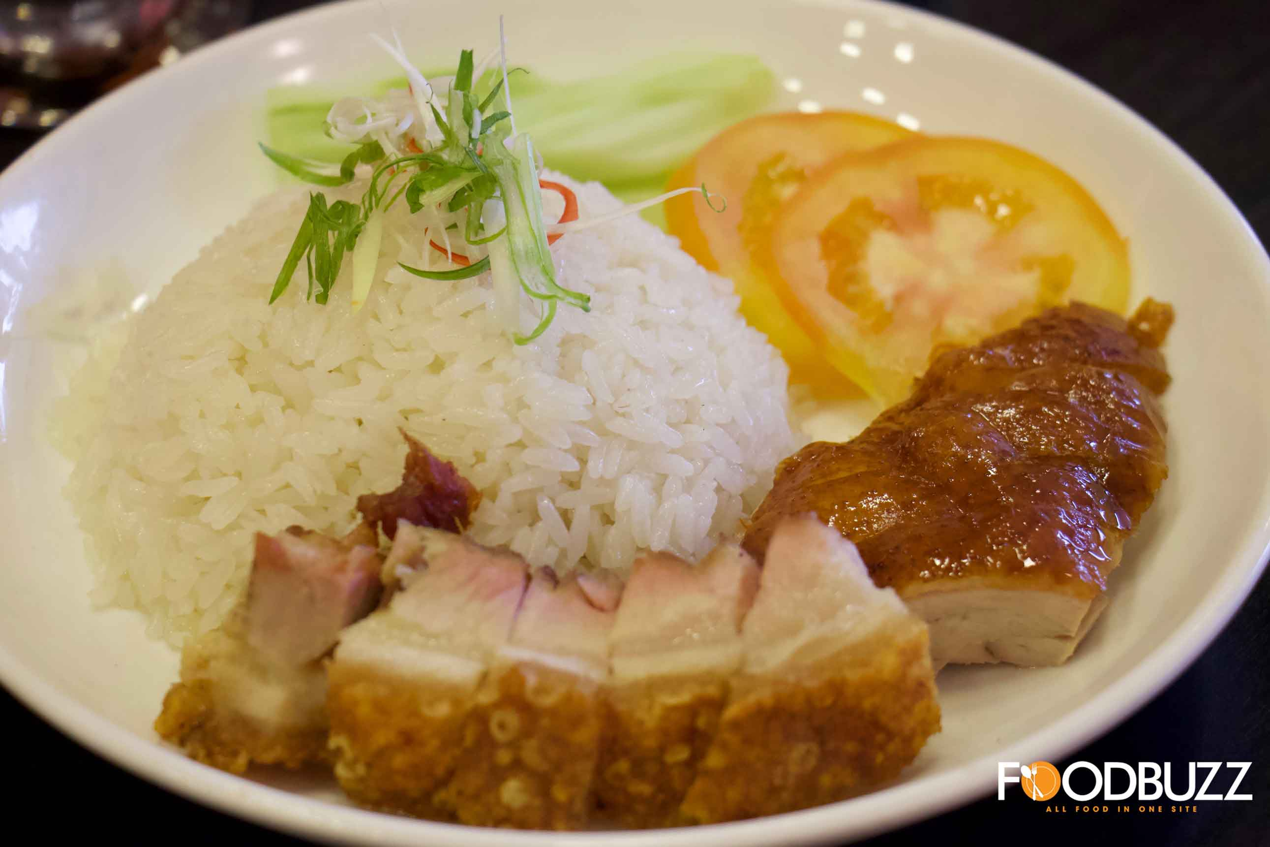 La Carte Rice with Roasted Duck and Roasted Pork